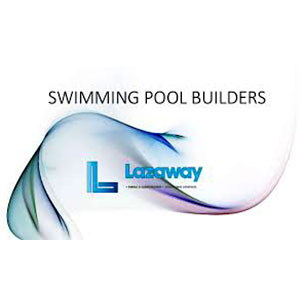 The Lazaway Swimming Pool Builders logo.